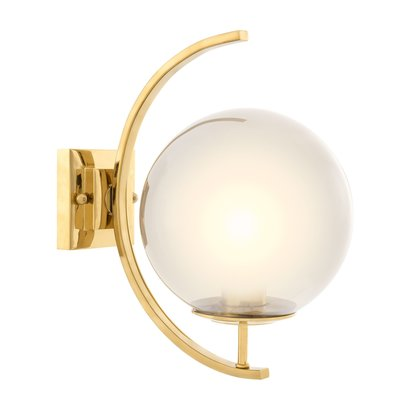 Eichholtz Wandlamp Wall Lamp Cascade  smoke glass gold