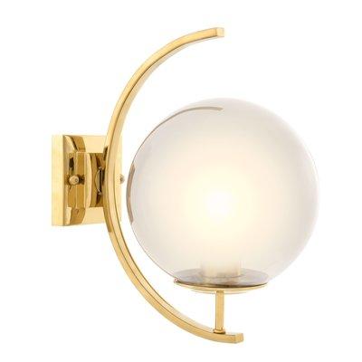 Eichholtz Wandlamp Wall Lamp Cascade  smoke glass gold