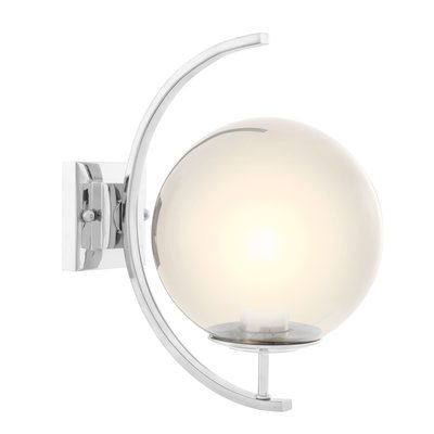 Eichholtz Wall Lamp Cascade smoke glas Nickel finish