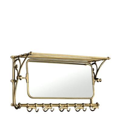 Eichholtz Wandkapstok Varadero met spiegel 75cm antiek goudkleur