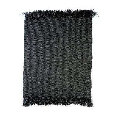 Bazar Bizar Frindged Carpet 200CM Zwart