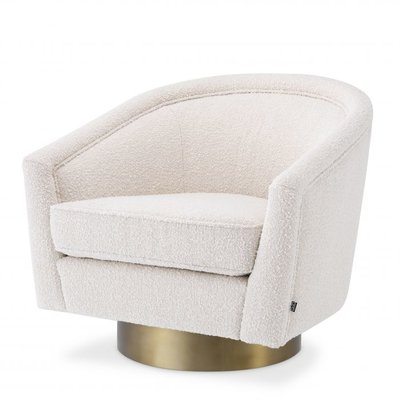 Eichholtz Swivel Stoel Catene Bouclé Cream