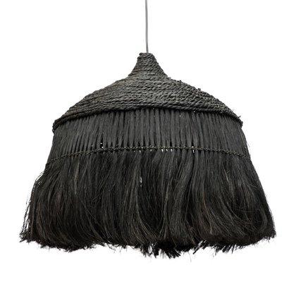 Bazar Bizar Abaca Hoola Hanglamp Zwart