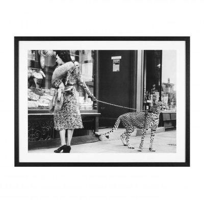 Eichholtz Print Elegant Woman With Cheetah
