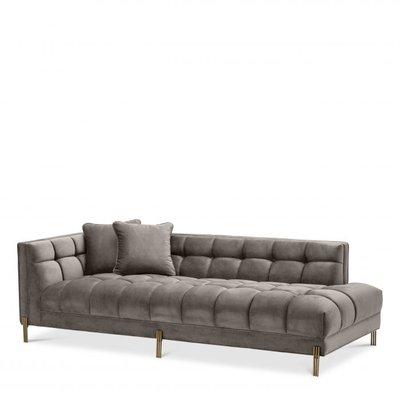 Eichholtz Lounge Sofa Siennaleet L charles long grey velvet