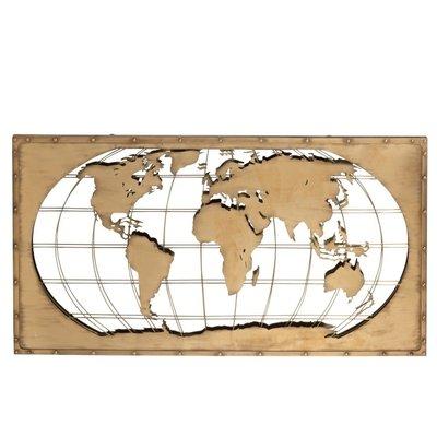J-Line Wereldkaart Spiegel