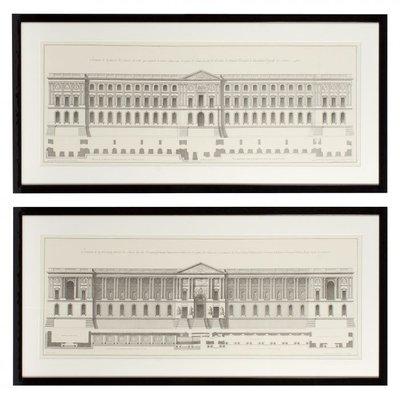 Eichholtz Print  La façade du Louvre set of 2