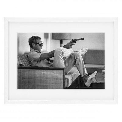 Eichholtz Print  Steve McQueen takes Aim