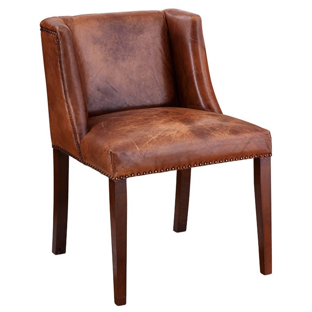 Landelijke Leren Fauteuil.Eichholtz Eichholtz Ding Chair St James Stoel Van Bruin