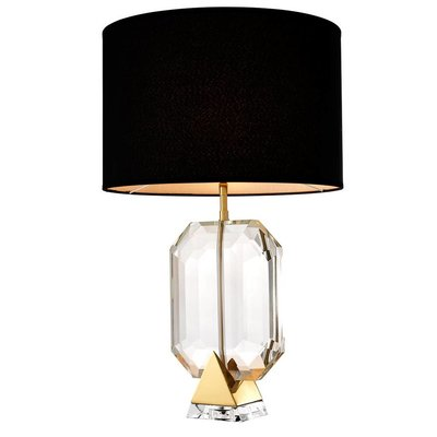 Eichholtz Table Lamp Emerald Gold crystal glass H.70cm