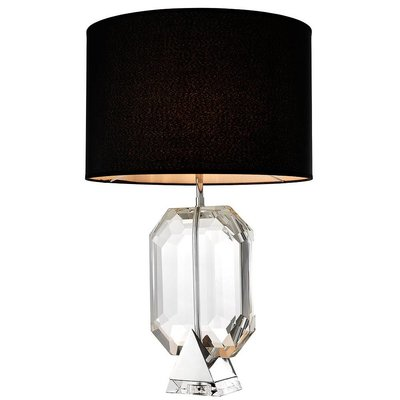 Eichholtz Table Lamp Emerald Nickel Crystal glass H.70cm