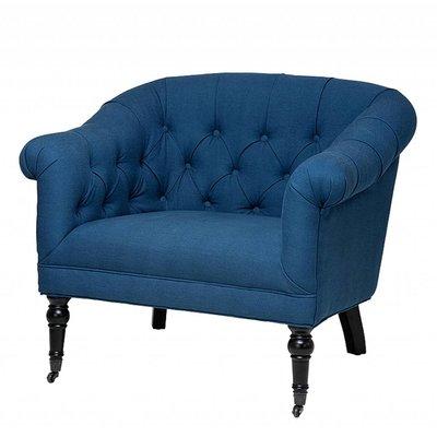 """Eichholtz Stoel """"Chair Bentley"""" blauw"""