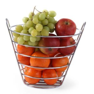 M&T Fruit basket 21.5 cm chrome plated