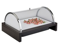 M&T Chilled display with roll top cover
