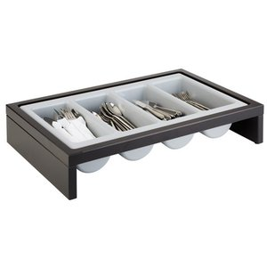 M&T Cutlery tray 2 pcs in wengé display