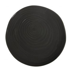 PILLIVUYT Flat plate TECK 28 cm dark gray