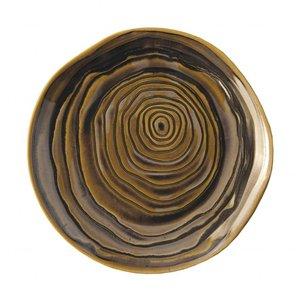 Pullivuyt Plat bord TECK 21 cm brons