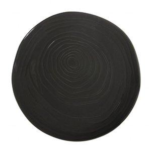 Pullivuyt Plat bord TECK 16,5 cm donker grijs