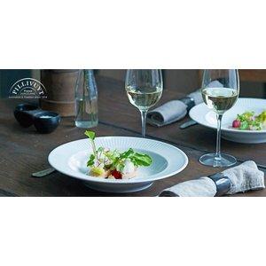 PILLIVUYT Deep pasta / gourmet plate Plissé 28 cm