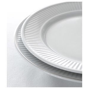 PILLIVUYT Flat plate 22 cm Plissé