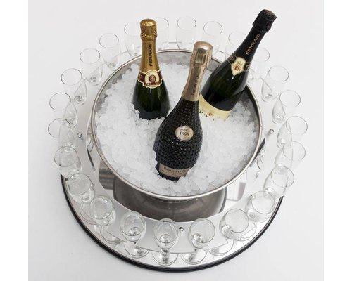 ZEPé Champagne trolley round shape