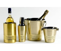 M&T Wine cooler double-walled gold color