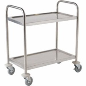 M&T Trolley stainless steel 2 tiers small