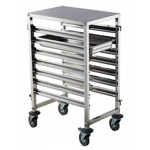 M&T Gastronorm racking trolley 7 x GN 1/1