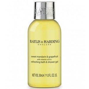 Baylis & Harding Flacon 30 ml gel bain douche carton avec 100 pièces