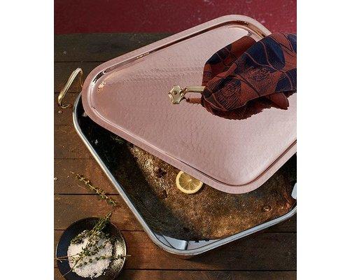 MAUVIEL  Turbotière - Flatfish pan copper 50 cm