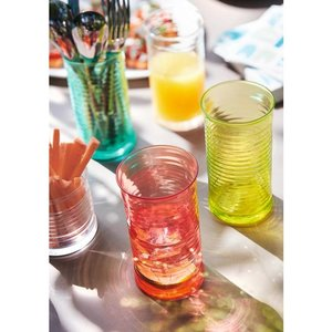 Set with 18 colored glasses 47 cl