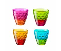 Bormioli Rocco Set of 4 funny water glasses 25 cl
