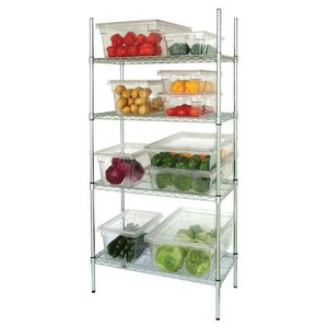 M & T  4 Tier Wire Shelving Kit 183 h x 915 x 460 mm