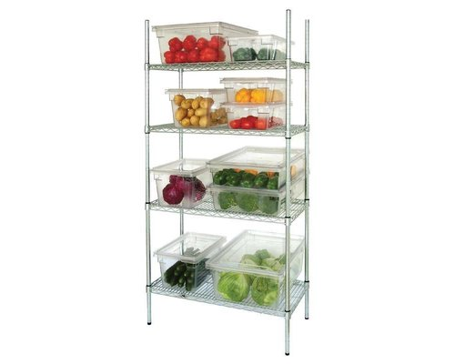 M & T  4 Tier Wire Shelving Kit 183 h x 915x460 mm