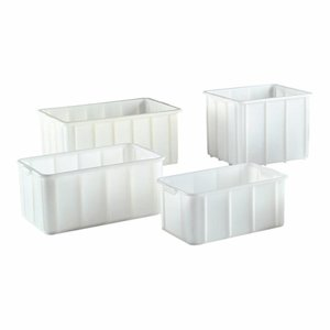 M & T  Stacking container white 83x57xh36cm  130 liter