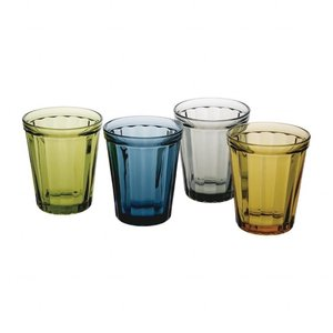 Set van 24 retro waterglazen 26 cl