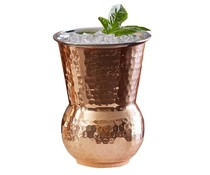 Cocktail mug 40 cl hammered copper / stainless steel