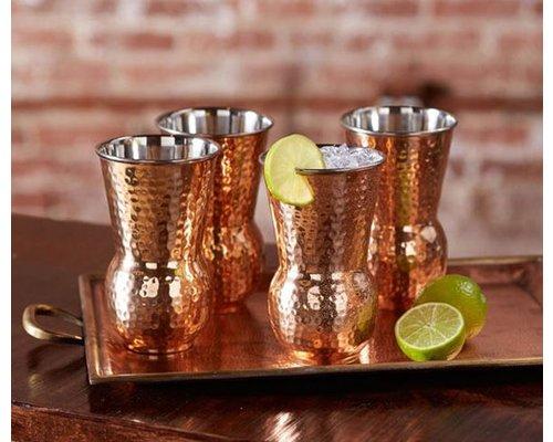 Cocktailbeker 40 cl gehamerd koper / roestvrijstaal