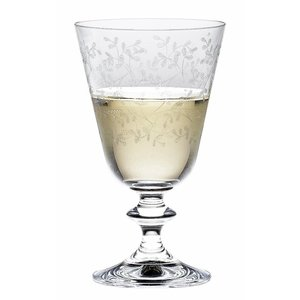 BOHEMIA CRISTAL  Wine glass 23 cl with decoration