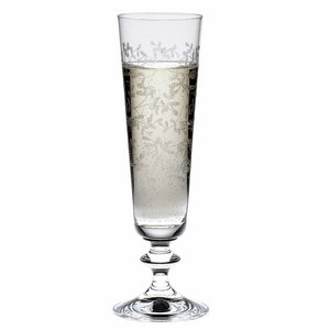 BOHEMIA CRISTAL  Champagne flute 20,5 cl with decoration