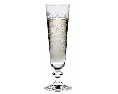 BOHEMIA CRISTAL  Champagne flute 20,5 cl met decor