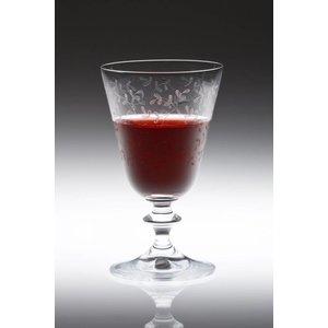 BOHEMIA CRISTAL  Wijnglas 26 cl op voet met decor