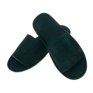 Slippers black coton