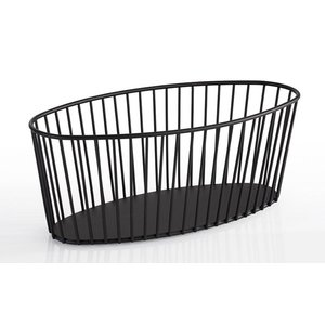 "M & T  Basket oval black metal "" Urban """