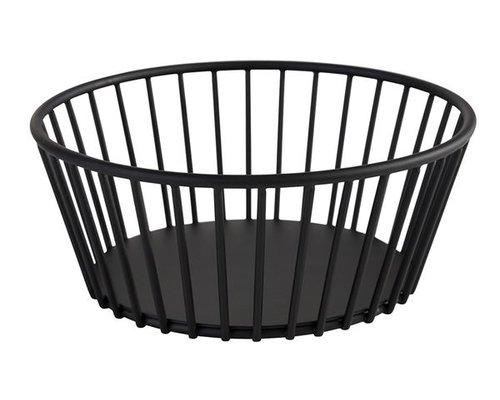 """M & T  Basket round  black metal """" Urban """""""