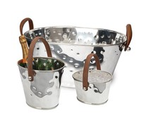 M&T Ice cube pail, wine cooler and Giant champagne bowl XXL 3 pieces set