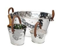 M&T Ijsemmer, wijnkoeler en champagnekoeler XXL drie delige set