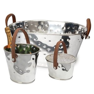 Ice cube pail, wine cooler and Giant champagne bowl XXL 3 pieces set