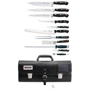 DICK  Kitchen knife set 12 pieces with foldable knife holder