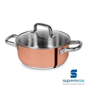 SUPREMINOX  Casserole 28 cm with glass lid